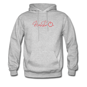 Men's Hoodie Design Red - heather gray