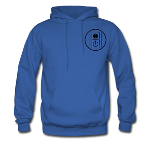 Men's Hoodie Logo Black - royal blue