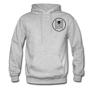 Men's Hoodie Logo Black - heather gray