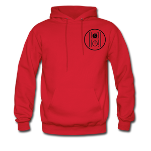 Men's Hoodie Logo Black - red