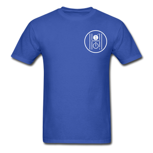 Unisex Logo White - royal blue
