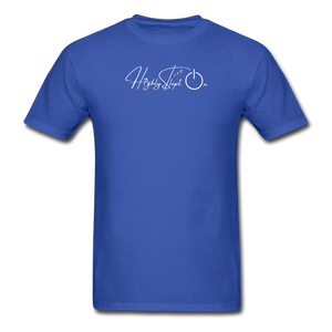 Unisex Design White - royal blue