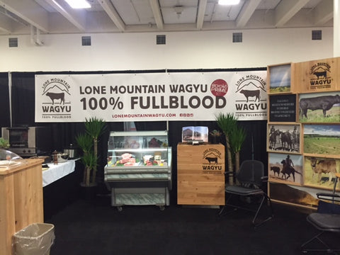 Lone Mountain Wagyu Booth at Fancy Food Show