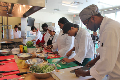Students in the Culinary Training Program