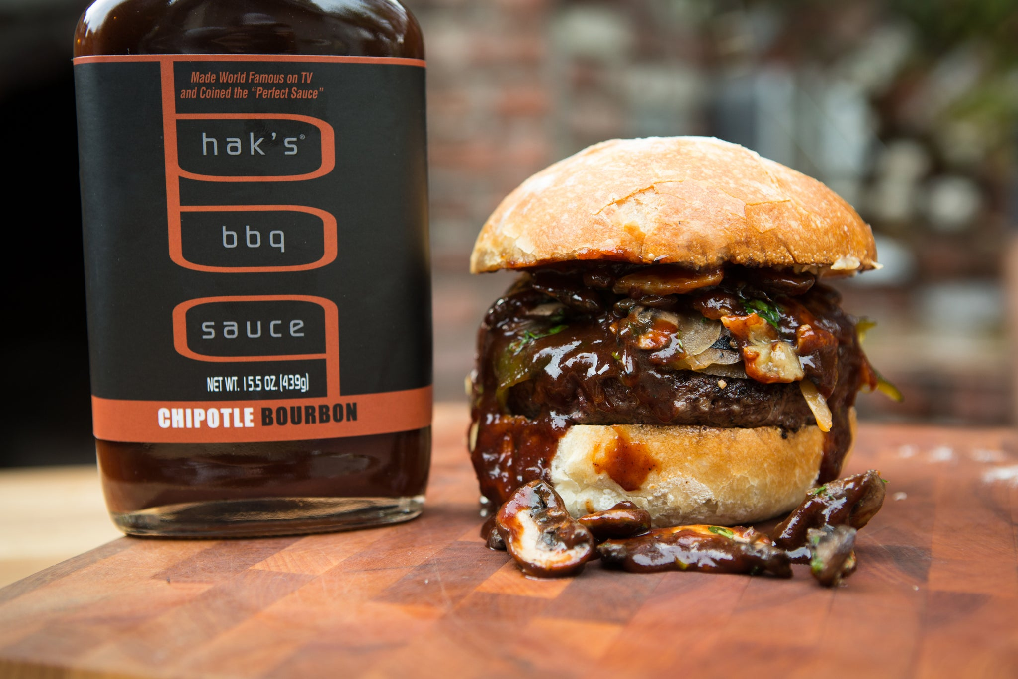 Chipotle Bourbon Tailgater Burger