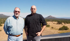 Chef Nick Wakefield & Manager Ken Kuiken with our Lone Mountain in the background
