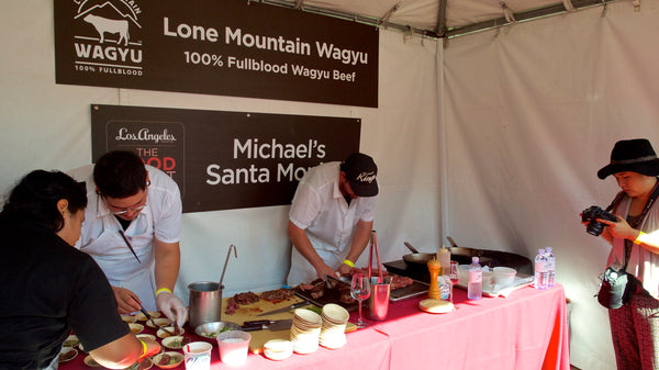 Lone Mountain Wagyu at the Los Angeles Magazine Food Event
