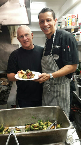 Chef Derek Walker & Mike Bonin Serving Lone Mountain Wagyu