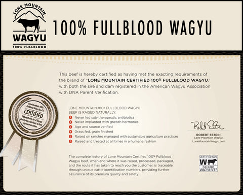 100% Fullblood Wagyu DNA Certification