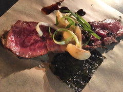Lone Mountain Wagyu Flat Iron paired with Hak's Chipotle Bourbon BBQ Sauce  - Image courtesy of Barcelone