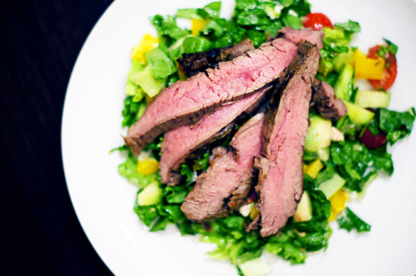 Grilled Wagyu Top Sirloin Steak Southwestern Salad Recipe