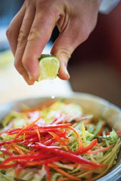 Asian Napa Slaw Preparation
