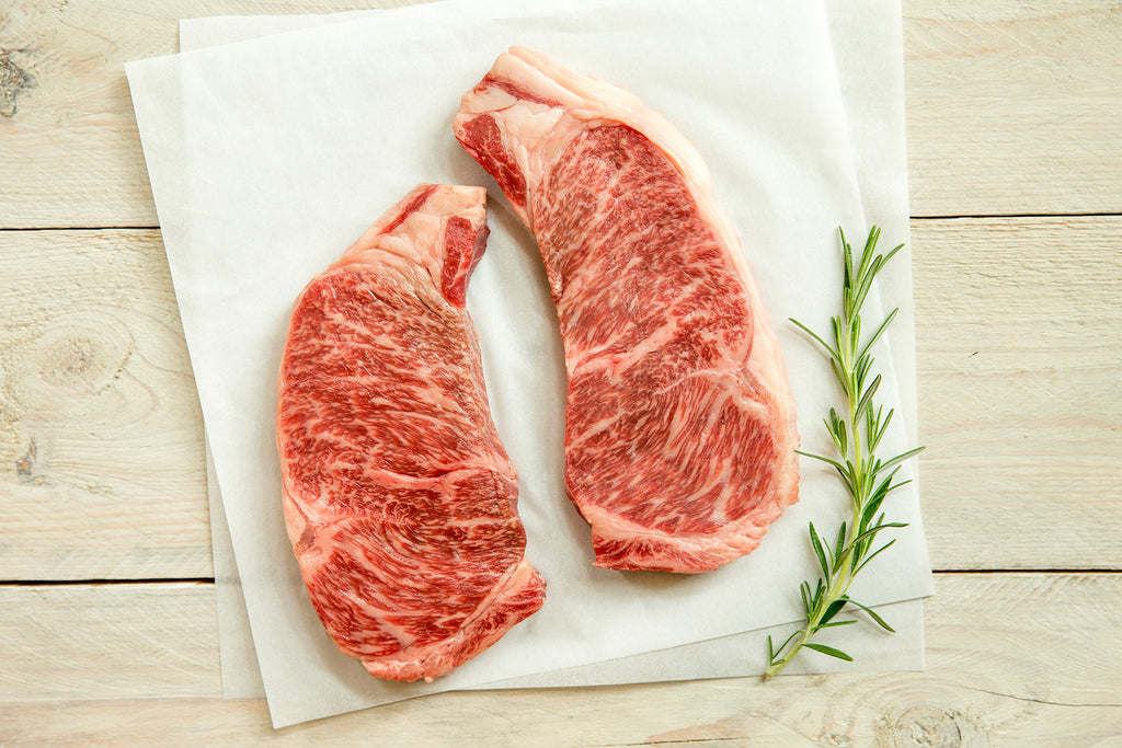 Lone Mountain Wagyu Beef NY Strip Steaks
