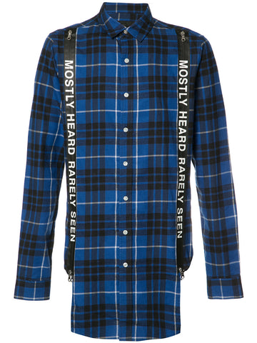 SUSPENDER RUNNER PLAID SHIRT