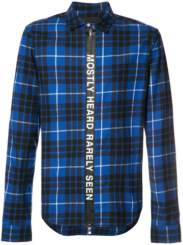 PLAID TICKER FEED SHIRT