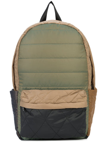 MULTI-PATTERN QUILTED COLOR BLOCKING BACKPACK
