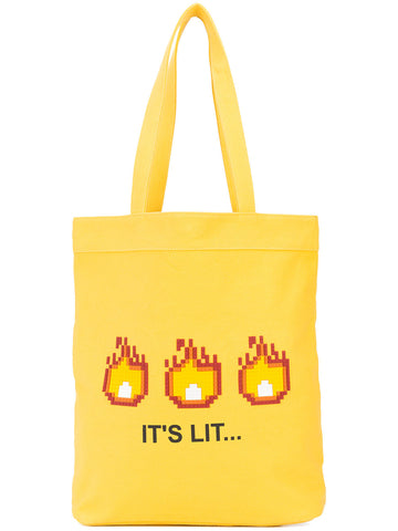 IT'S LIT TOTE (YELLOW)