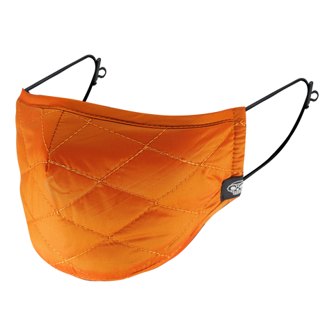 ORANGE MA-1 BOMBER QUILTED MASK