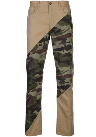 Sliced Denim Jean KHAKI/JUNGLE CAMO