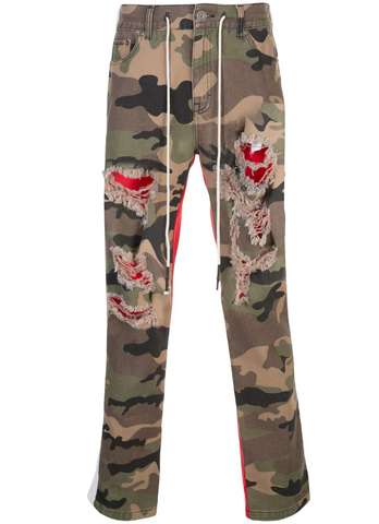Half and Half Pant JUNGLE CAMO/RED