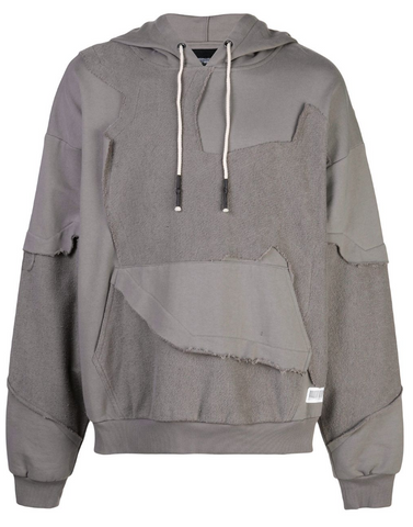 Cut Me up Drop Shoulder Hoodie GREY