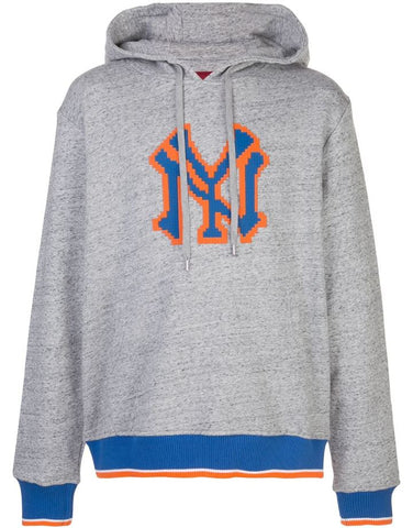 YORKER HOODIE HEATHER GREY 8-BIT