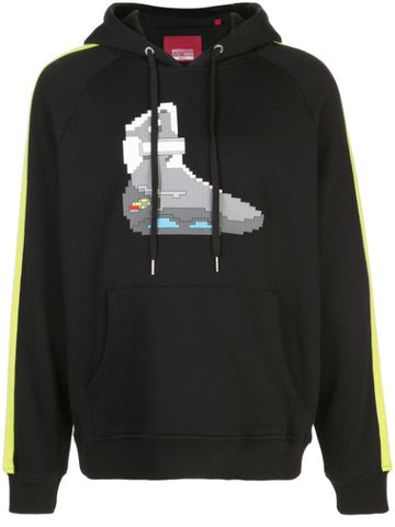 TURBO TECH  RAGLAN HOODIE BLACK