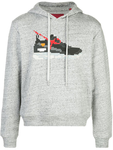 BLACK GEAR HOODIE HEATHER GREY