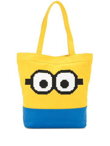 STARING GOGGLES TOTE YELLOW & BLUE 8-BIT