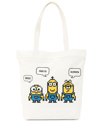 STARING TOGETHER TOTE OFF WHITE 8-BIT