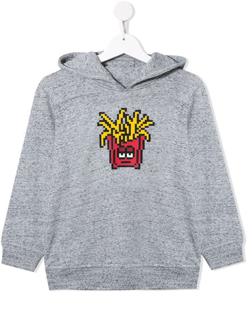 MINI ME FRIES HOODIE HEATHER GREY