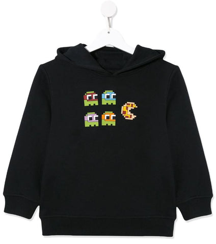 MINI ME PIZZA HOODIE BLACK