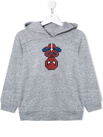 MINI ME ARACHNO HOODIE HEATHER GREY