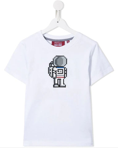 MINI ME ASTRONAUT TEE WHITE