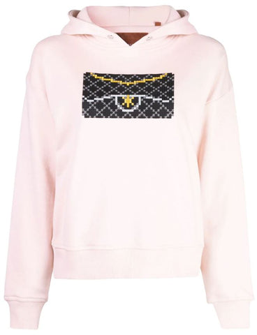 BLACK CLUTCH HOODIE LIGHT PINK WOMEN