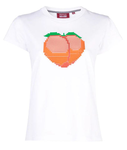 PEACH TEE WHITE WOMEN