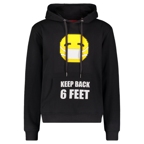 KEEP BACK HOODIE BLACK 8-BIT