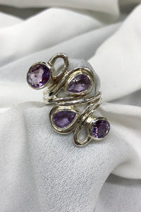 Amethyst Ring set in Sterling Silver