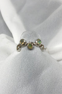 Opal Ring in Sterling Silver