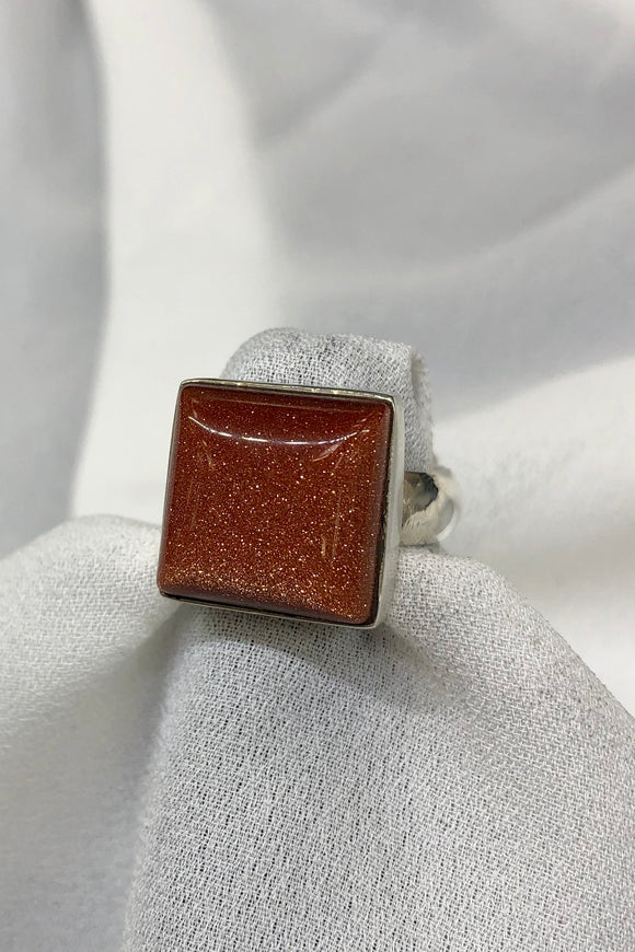 Goldstone Ring set in Sterling Silver