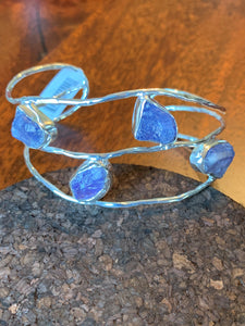 Tanzanite Bracelet set in Sterling Silver available in other stone options