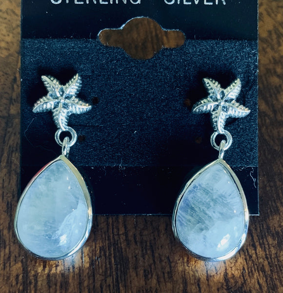 Moonstone Earring set in Sterling Silver