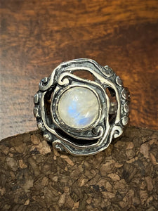 Moonstone Ring set in Sterling Silver