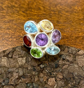 Semi Precious Ring set in Sterling Silver
