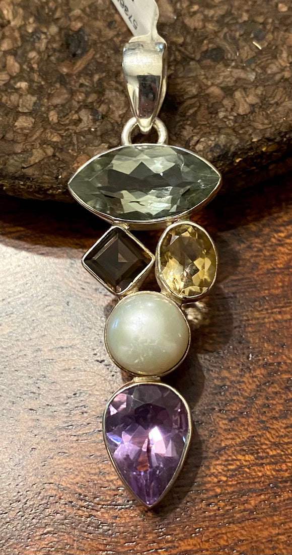 Semi-Precious Pendant set in Sterling Silver