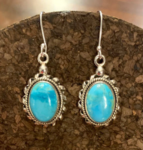 Turquoise Earring set in Sterling Silver
