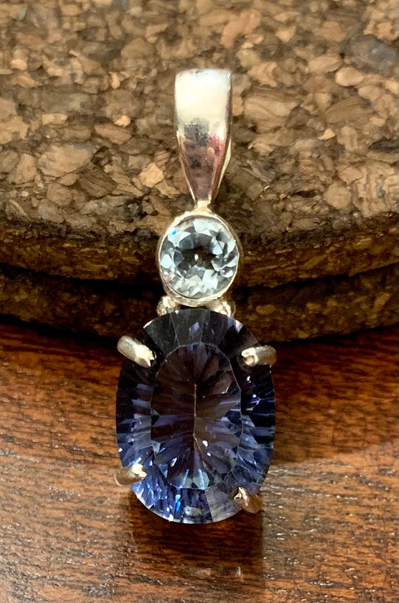Blue Mystic Topaz Pendant set in Sterling Silver available in other stones