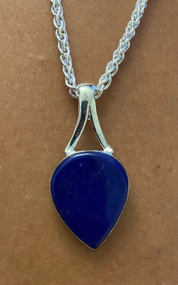 Lapis Pendant set in Sterling Silver