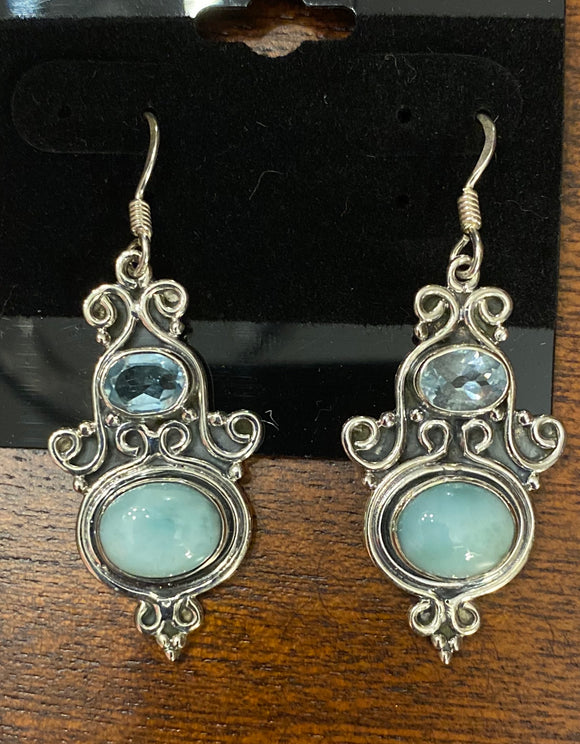 Chrysoprase Earring set in Sterling Silver