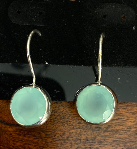 Chalcedony Earrings set in Sterling Silver